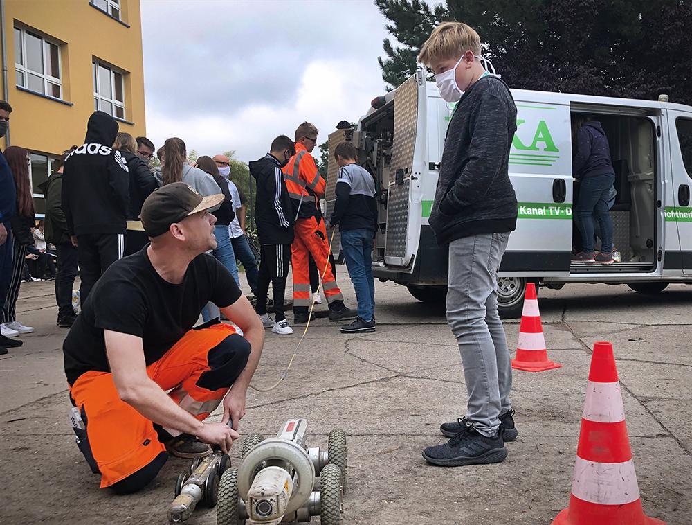 Rohrreinigung UniROKA Verantstaltung an Regionalschule Papendorf